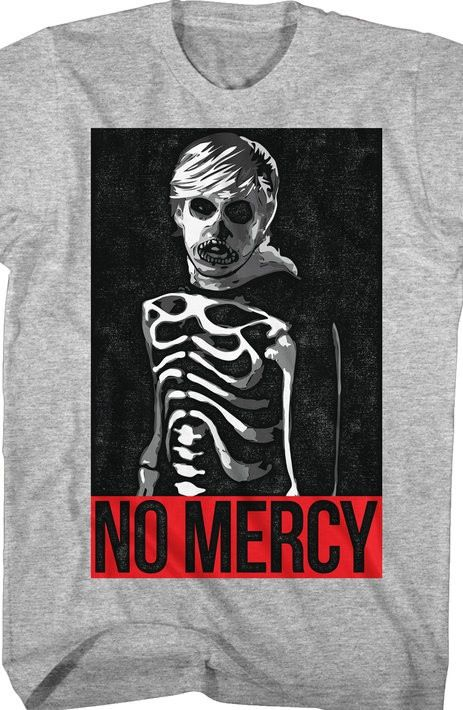 karate kid no mercy t shirt the karate kidskeleton - The Karate Kid Halloween Fight