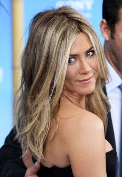 Blonde Highlights. Jennifer Aniston. Show to Kelley