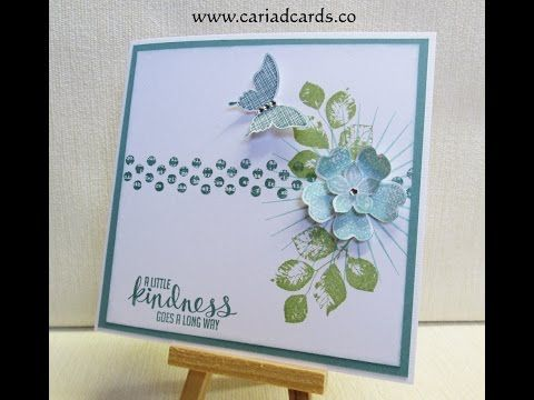 Stampin Up Kinda Eclectic Card - YouTube