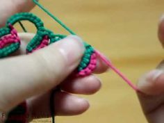 Fireweed Tatting Class, Block tatting with two color, 블럭 태팅 Flipped and unflipped double stitches