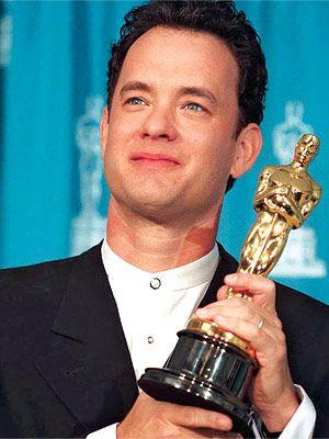 """Tom Hanks (1993)  """"Philadelphia"""" & """"Forrest Gump"""" (1994)"""