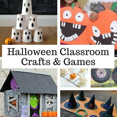 Halloween Crafts & Games for the Classroom... Once you untangle yourself from the store bought spider-webs, we've got everything you need to plan the perfect Halloween party for the class.