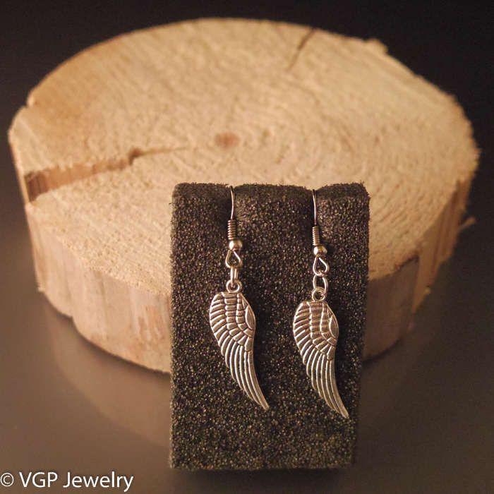 Mooie Vleugel Oorbellen: zilver
