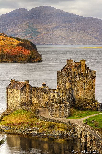 Eilean Donan is a small tidal island in Loch Duich in the western Highlands of Scotland; Been there, done that!