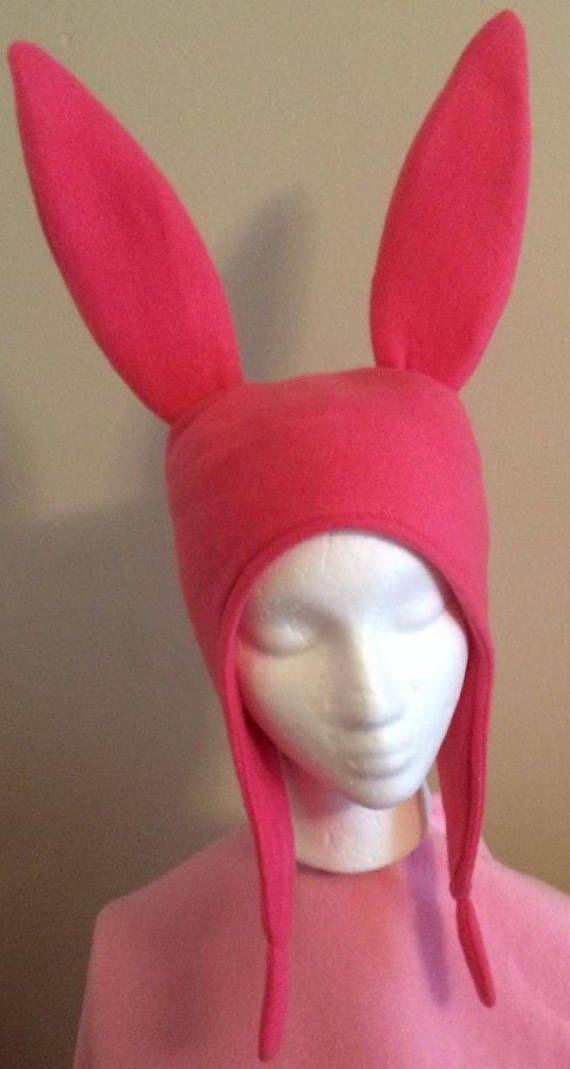 Pink Bunny Ears hat Five Sizes: XS S M Lge & X Lge
