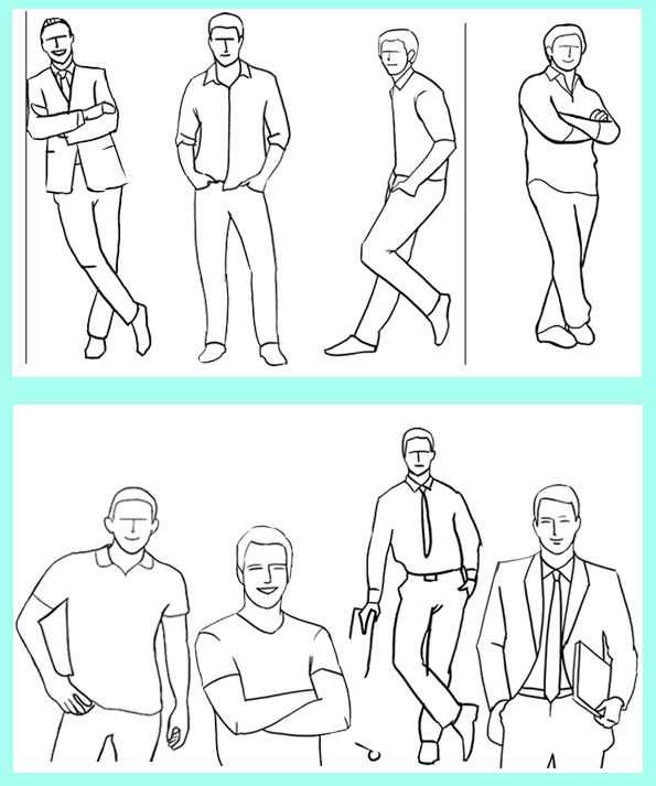 poses for guys - This blog changes often so this topic may be gone - but the art work was taken from http://digital-photography-school.com/21-sample-poses-to-get-you-started-with-photographing-men#