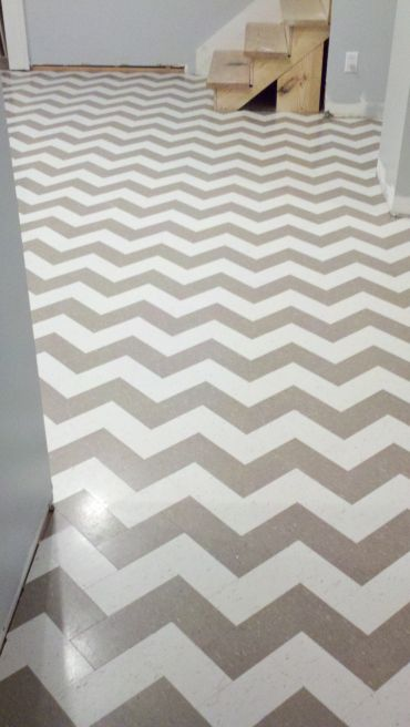 chevron vct installation - Vct Pattern Ideas