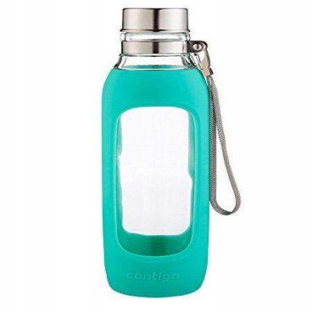 Free Shipping. Buy Contigo Glass Water Bottle, 20-Ounce, Greyed Jade at Walmart.com