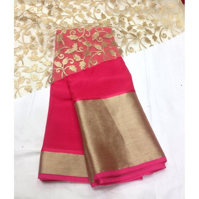 """Pretty pink georgette saree To purchase mail us at houseof2@live.com or whatsapp us on +919833411702 for further detail #sari #saree #satin #sarees #sarees #sareeday #sareelove #india #indian #instagood #indianwear #indooutfits #like #traditional #traditionalwear #ThePhotoDiary #pink #gold #houseof2"" Photo taken by @house_of_2 on Instagram, pinned via the InstaPin iOS App! http://www.instapinapp.com (10/03/2015)"