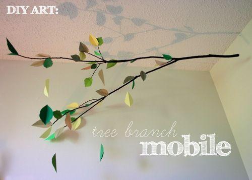 lovely tree branch mobile