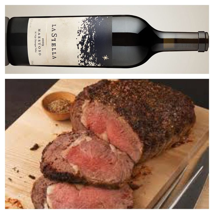 A Wine & Food Pairing from Wade (our Wine Club Manager & Tasting Room Supervisor) at our sister winery La Stella: Wine - Maestoso (Merlot) Food - Roast Prime Rib with simple prep jus and vegetables. Cooked pink and seasoned with herbs, butter and salt. Room temperature, seared and then roasted. Maestoso having the weight and fruit intensity to match a substantial cut. $100 - http://www.lastella.ca/product/rosso/2011-maestoso/