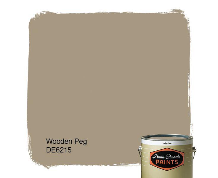 Dunn Edwards Paints Paint Color: Wooden Peg DE6215   Click For A Free Color
