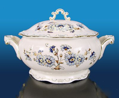 Zsolnay porcelain with Cornflower design ($285)