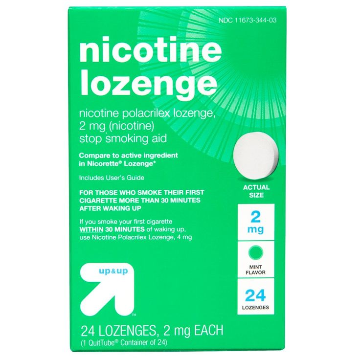 Nicotine 2mg Gum & Lozenges Stop Smoking Aid - Mint - (Compare to Nicorette Gum) - 24ct - up & up, Off White