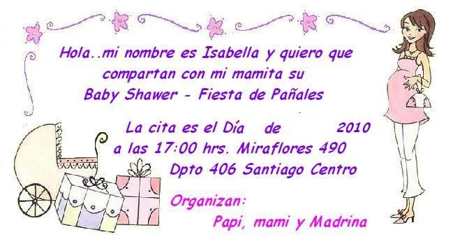 Invitación Baby Shower Deysi