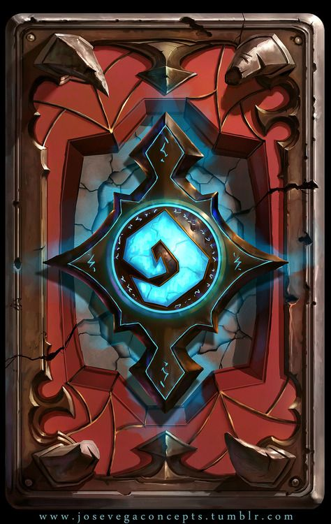 Fanart work for a cardback for hearthstone. A lot of fun on this one!