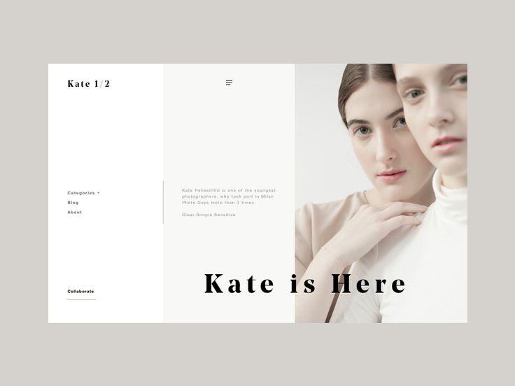 Kate photography website by Zhenya & Artem #Design Popular #Dribbble #shots