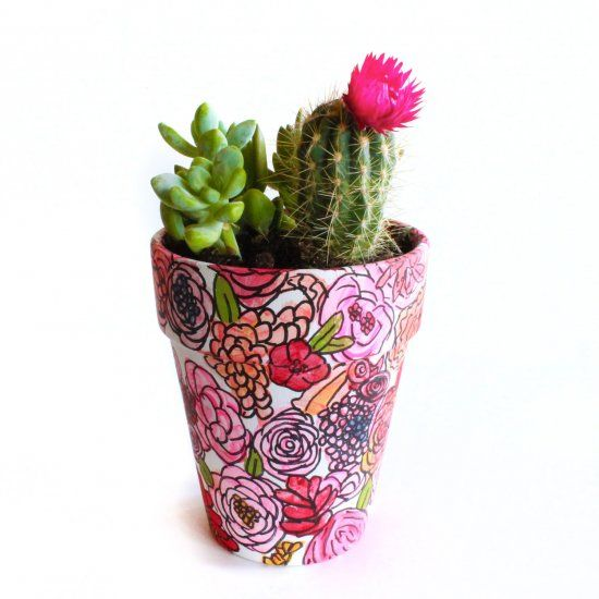 This Cute Flower Pot Is So Easy Anyone Can Paint It