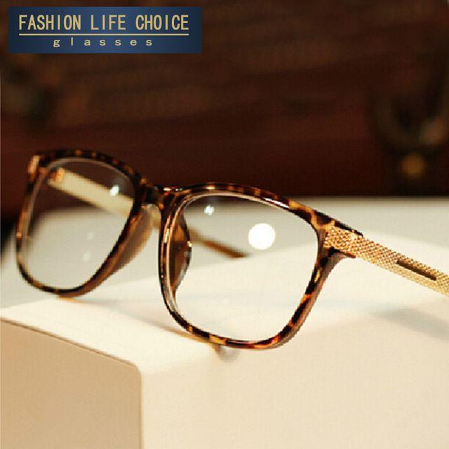 2016 Nova Moda óculos de miopia quadro das mulheres dos homens do vintage óculos de armação oculos de grau femininos Mulheres Óculos de lentes Lisas