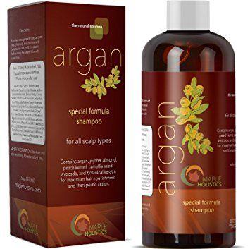 Pure Argan Oil Shampoo with Argan Jojoba Avocado Almond Peach Kernel Camellia Seed and Keratin… Review