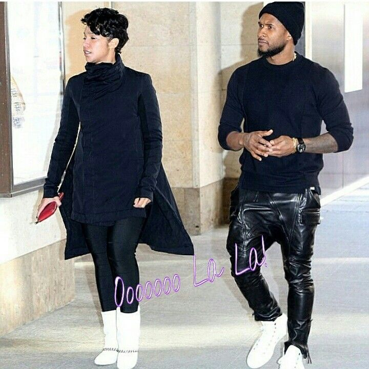 Usher and his fiancé Grace Miguel spotted in Munich, Germany  #OooLaLaBlog #Usher #urshababy #GraceMiguel #celebritycouples #celebritiesspotted #Germany #Munich