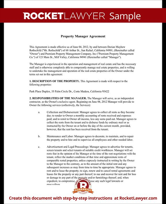The 9 Best Images About Management Agreement On Pinterest | Info