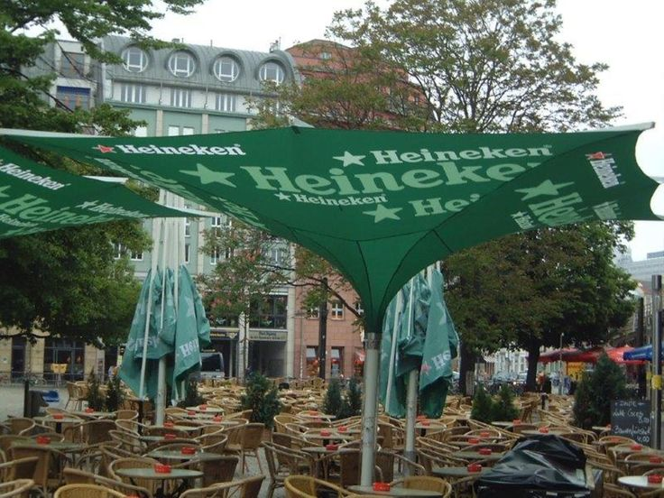 More upside down umbrellas and branding!