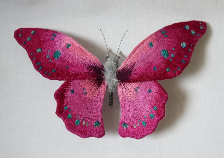 Textile Moth and Butterfly Sculptures by Yumi Okita: