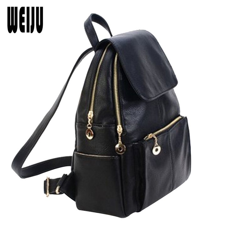40.57$  Buy here - http://vittq.justgood.pw/vig/item.php?t=sojpa956686 - Casual Backpack Women Fashion PU Leather Backpacks For Teenage Girls Preppy Styl 40.57$