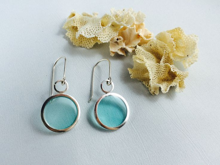 Sterling Silver and aqua resin earrings AU$35 plus postage until Christmas. Then back to AU$45.