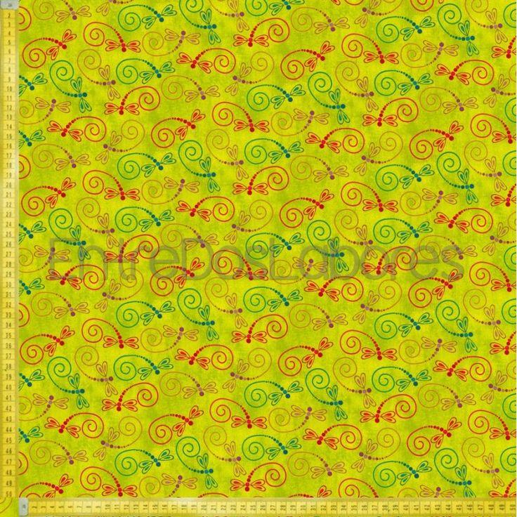 Tela de patchwork Fabry Quilt Mod. Calypso verde.