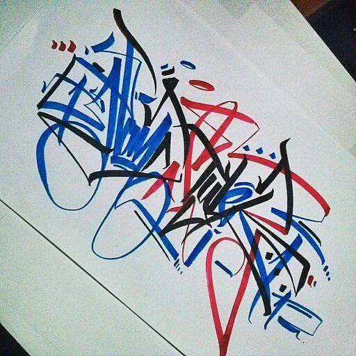 colour combination Handstyler by Sopehs (@sopehsneverdie). #sopehs #handstyle #graffiti //follow @handstyler on Instagram