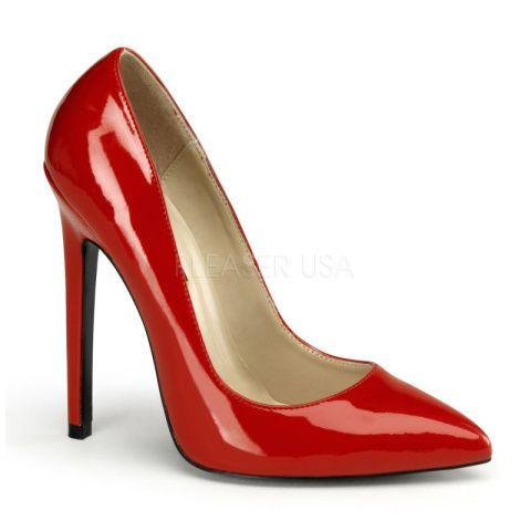 Retrouvez ce modèle --> http://www.shoes-cancan.com/scfr/escarpin-rouge-vernis-sexy-20.html