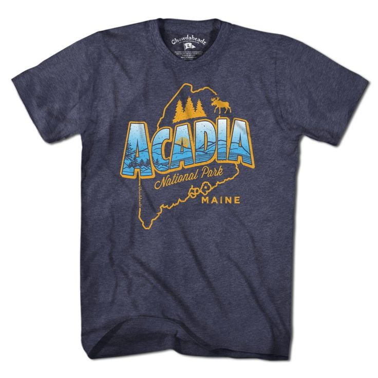 Acadia National Park TShirt in 2020 National park tee