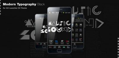 Ypo Black Go Launcher Ex Theme Is Simple Style For Go Launcherex