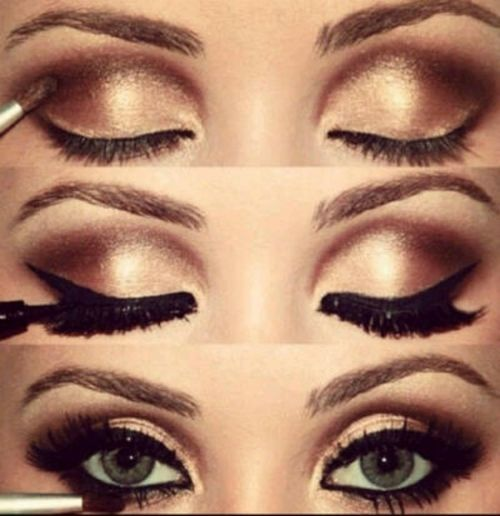 I like this one for me Amy...i want to do gold and a lot og highlighting!! I want big lashes too... :)