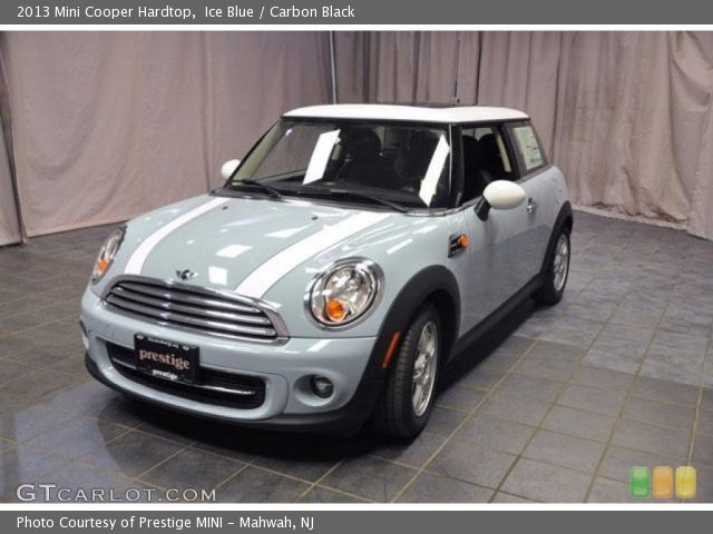 ice blue mini cooper white stripe | Ice Blue - 2013 Mini Cooper Hardtop - Carbon Black Interior | GTCarLot ...