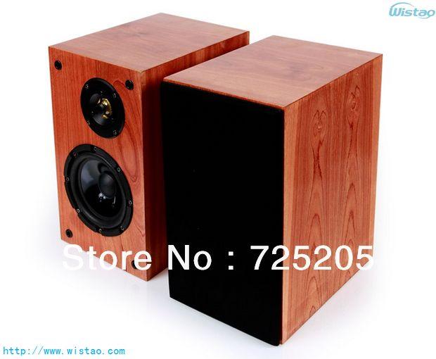 IWISTAO Bookshelf HIFI speakers high sensitivity super Bass speaker super high density board raw wood veneer (Model No:WHFS2018) $153.00