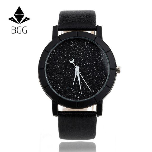 Cute Moon Stars Design Analog Wrist Watch Women Unique Romantic Starry Sky dial Casual Fashion quartz watches Woman Girl Gift