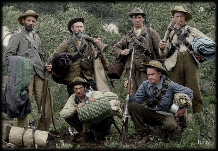 Boer Commando (coloured by Tinus Le Roux)