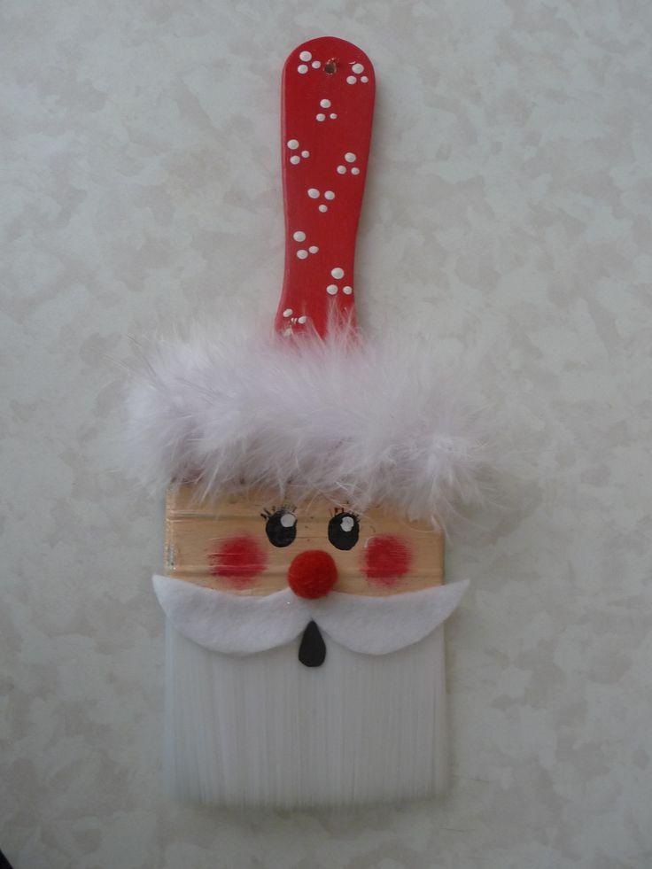 Santa on paintbrush