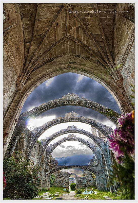 Cambados. Iglesia de Santa Mariña Dozo, prov. Pontevedra - Galicia, Spain
