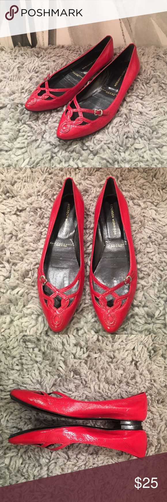Sigerson Morrison flats Authentic Sigerson Morrison flats in beautiful condition. Amazing toe detail, size 6. Sigerson Morrison Shoes Flats & Loafers
