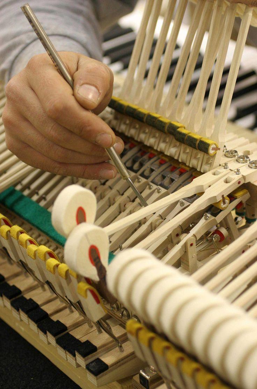 Mécanique clavier piano Pleyel.