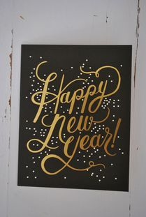 Happy New Year kort - Rifle Paper co.