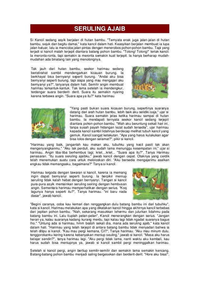 Seruling Ajaib Si Kancil Sedang Asyik Berjalan Di Hutan Bambu