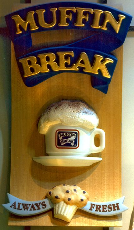mmm need a muffin break? Diemme does custom 3D signage fabrication for any of your design projects