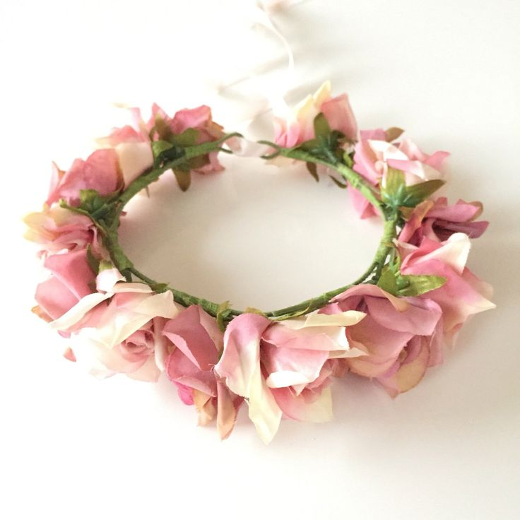 A personal favourite from my Etsy shop https://www.etsy.com/au/listing/462788119/floral-crown-pink-cream-flower-halo