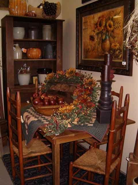 Prim Autumn Dining Home Interiors Primitive Fall