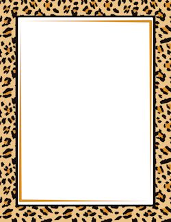 Leopard Print Border